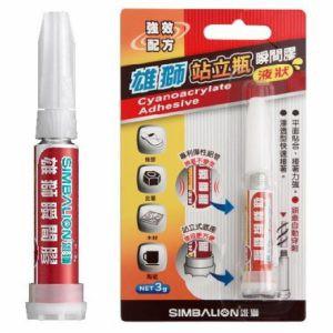 SIMBALION雄獅 GU-104 站立瓶 瞬間膠(液狀)/ 3g