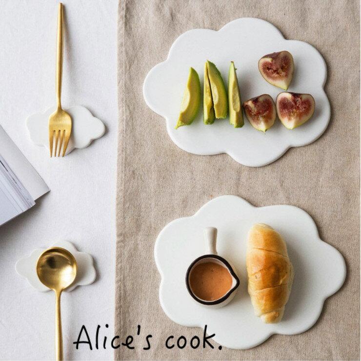 韓式 純白雲朵陶瓷托盤/餐盤/筷架 部落客 Red 使用推薦款 療癒餐具