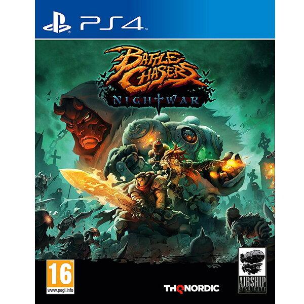 2097 電玩玩具公仔舖:PS4追逐戰:夜戰(英文封面非韓版)-中文英文日文版-BattleChasersNightwar