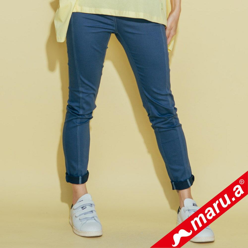 【maru.a】彈性貼腿後印花內搭褲(3色)8325311 4