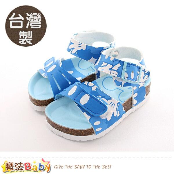 童鞋台灣製迪士尼米奇正版兒童涼鞋魔法Baby~sk0409