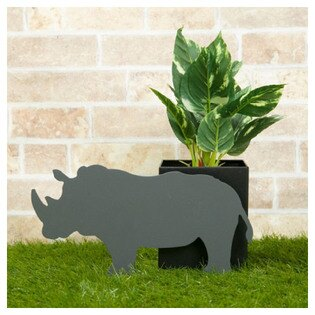 宜得利家居:(數量限定)動物造型園藝盆栽置架犀牛NITORI宜得利家居