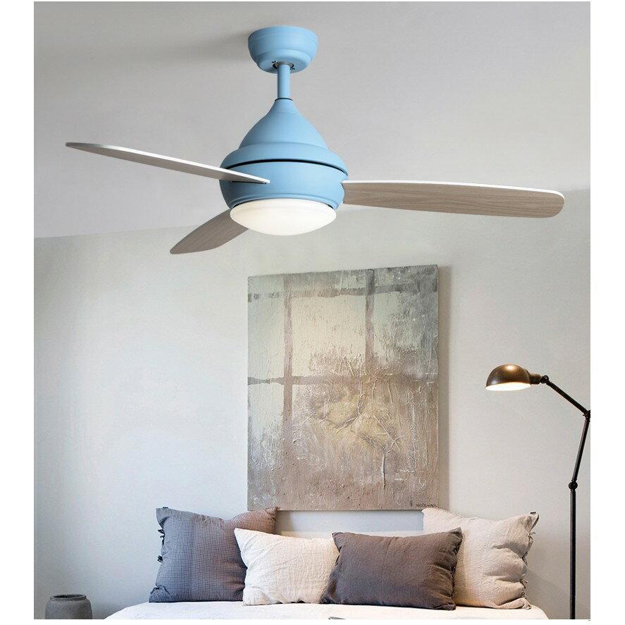 北歐風扇燈現代簡約客廳餐廳吊扇燈創意馬卡龍兒童臥室帶風扇吊燈ATF 6