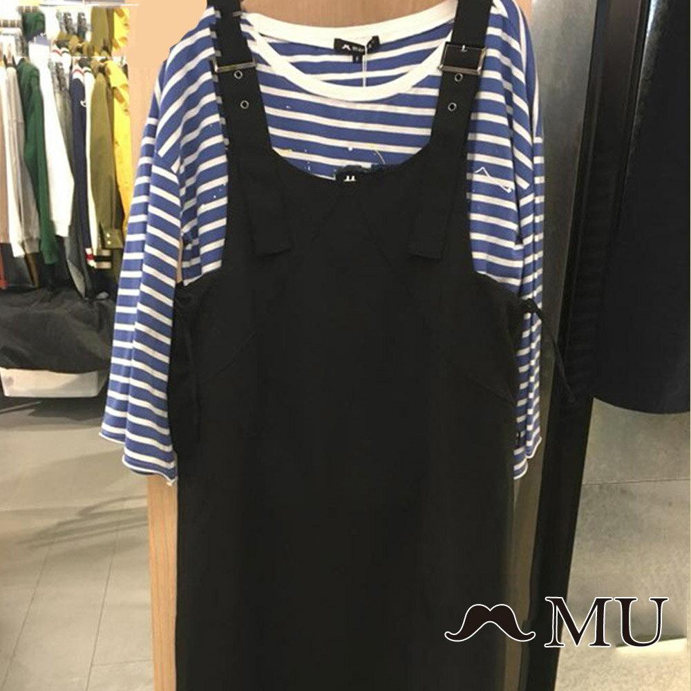【MU】側綁蝴蝶結吊帶長裙(2色)8317161 6