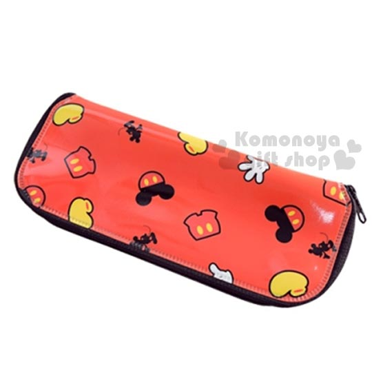 〔小禮堂嬰幼館〕迪士尼 米奇 餐具收納袋《長型.紅.大臉.褲子.手掌》適合放寶寶餐具