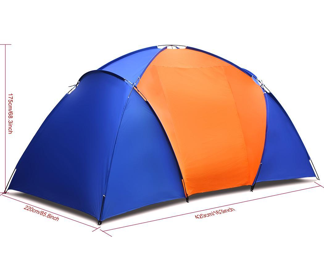 Waterproof Splicing Color 2 Room Outdoor Family Tent 0