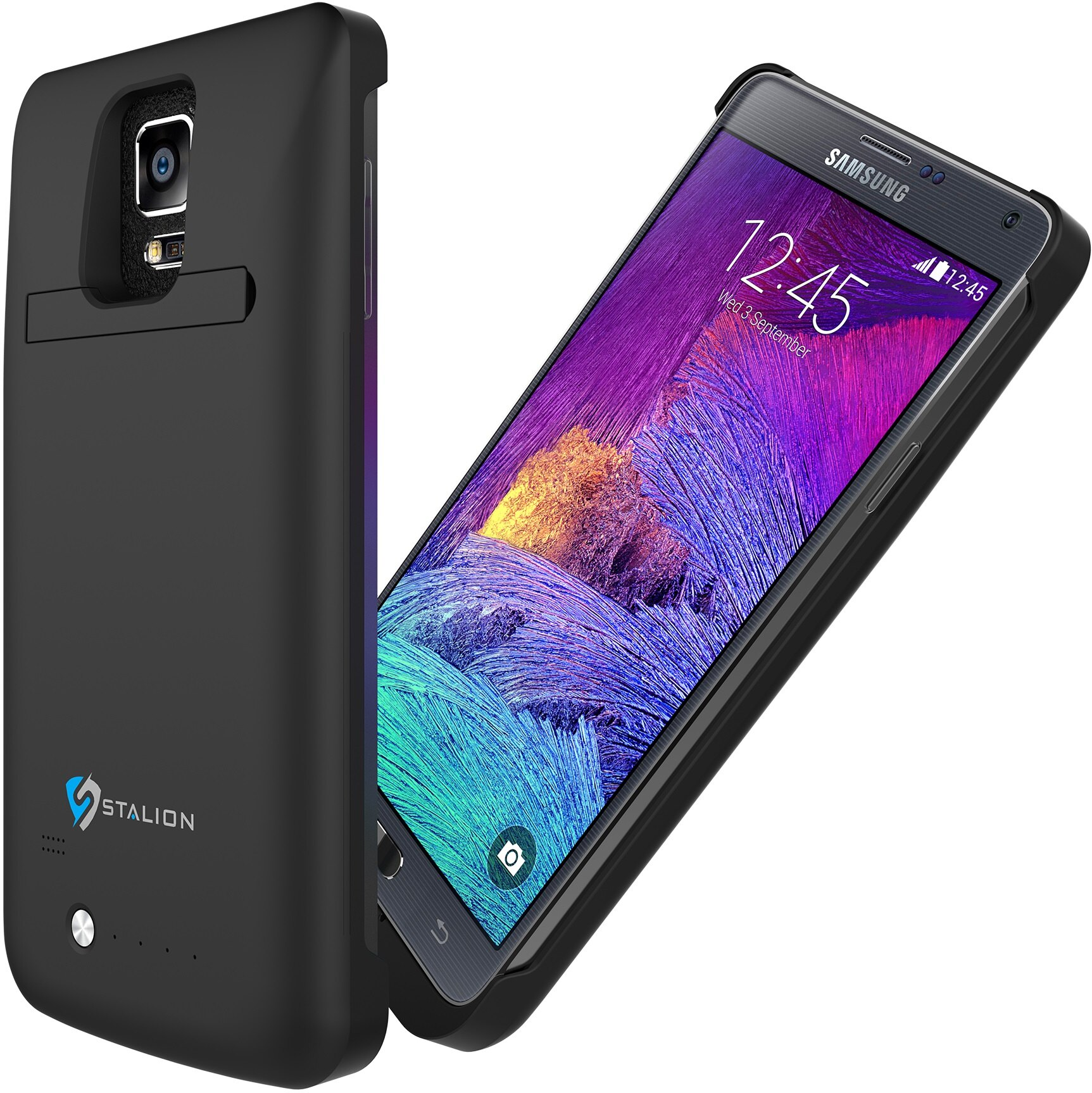 outlet store 3ede1 8d9be Samsung Galaxy Note 4 Battery Case Jet Black