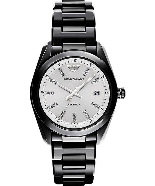 Emporio Armani 阿曼尼 Ceramica 晶鑽時尚腕錶 AR1494  39mm【8 / 15前↘領券再9折,優惠券碼: 2008CP2000B 】 - 限時優惠好康折扣
