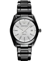 Emporio Armani 阿曼尼 Ceramica 晶鑽時尚腕錶 AR1494  39mm