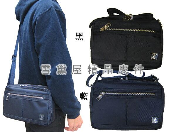 ~雪黛屋~SANDIA-POLO斜側包中小容量二層主袋進口防水尼龍布材質隨身物品中性可肩斜背BSP1018611000