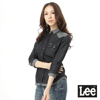 【 9折優惠 】Lee 101+ 拼接牛仔襯衫