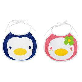 PUKU藍色企鵝 - 造型圍兜 (藍/粉) 0