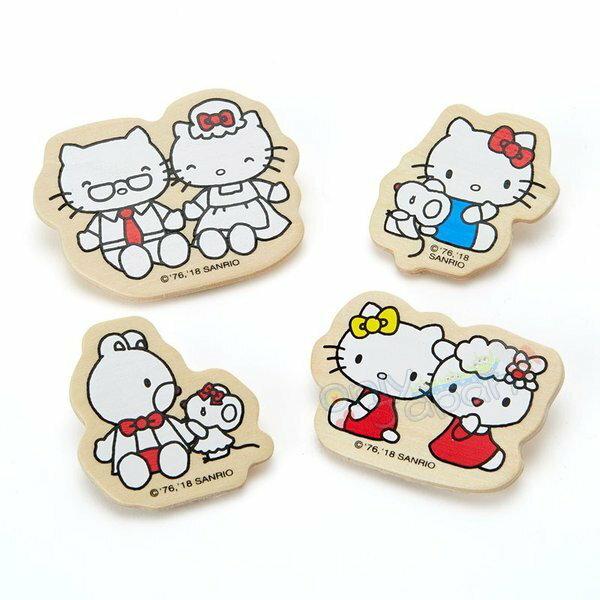【真愛日本】4901610062319日本製造型木製夾子-KT家族ADM凱蒂貓kitty三麗鷗家族夾子日本製