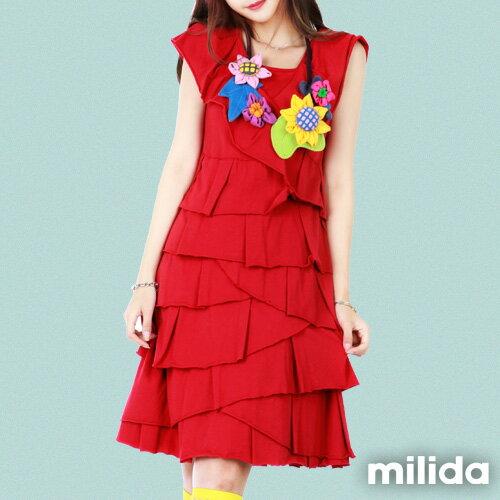 【milida】MMRYDP004☆長版荷葉邊連身裙 2