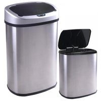 Deals on BestOffice 13 and 2.4 Gallon Automatic Stainless-steel Trash Can