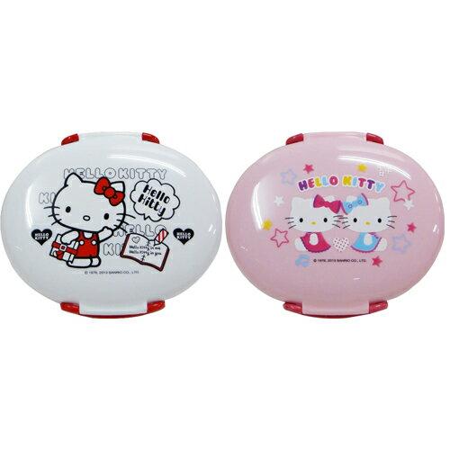 Hello Kitty 橢圓易扣便當盒