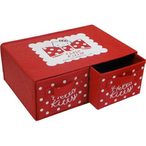 Hello Kitty雙格收納盒(橫式)