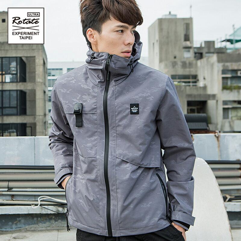 ROTATE 機能衝鋒衣 防風防水連帽運動外套 户外街頭 賽博龐克 男風衣夾克