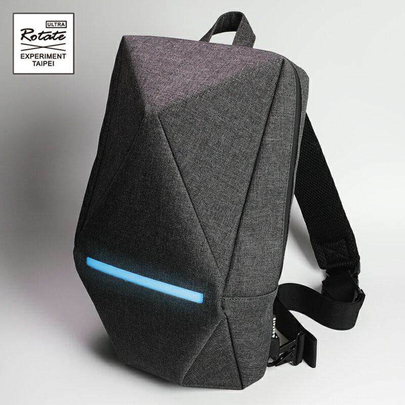 ROTATE GEOMETRY 立體幾何胸包腰包 原創 防水發光折紙包 反光安全多功能 側背包 機能斜背包