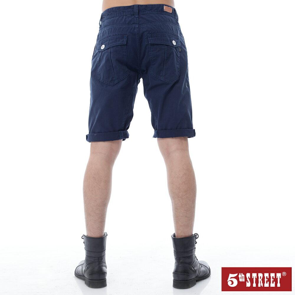【5th STREET】男街霸粗線短褲-丈青 1