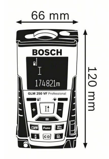 德國BOSCH 博世 GLM 250 VF 雷射測距儀 250M 測量招牌 冷光畫面 內建望遠鏡設計 非萊卡 2