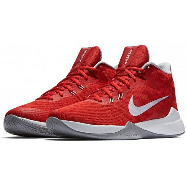運動世界:NIKEZOOMEVIDENCE男鞋籃球高筒輕量透氣紅白【運動世界】852464-601