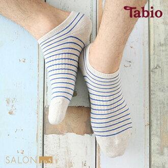 靴下屋Tabio 男款條紋運動隱形船襪