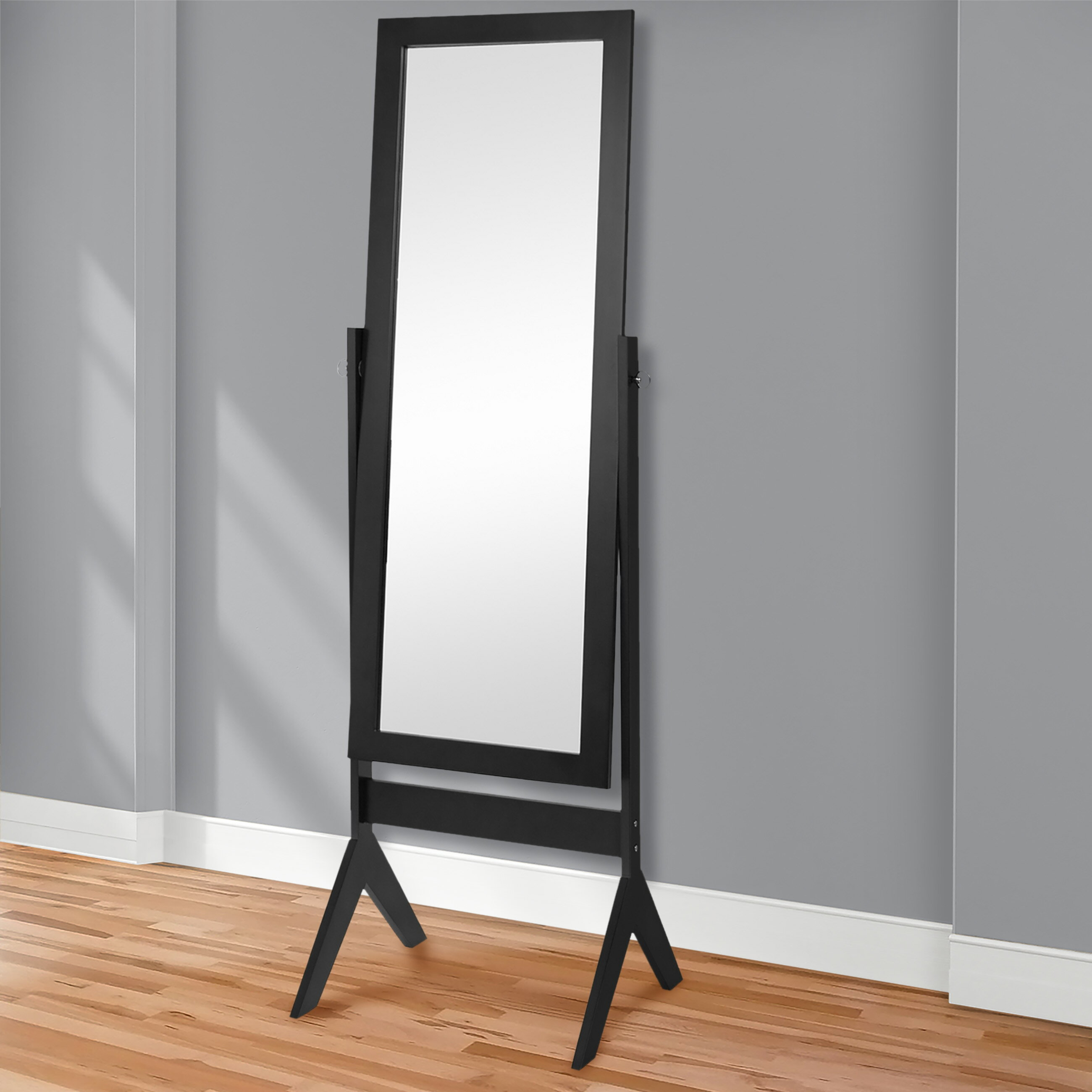 Best Choice Products Cheval Floor Mirror Bedroom Home Furniture- Black 1