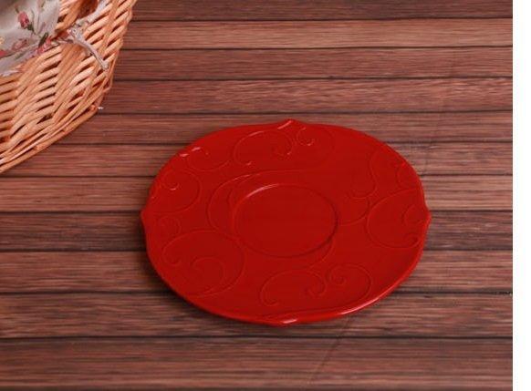 歐式鄉村浮雕做舊彩色陶瓷碟子 蛋糕碟 點心碟 糖果碟 零食碟菜碟