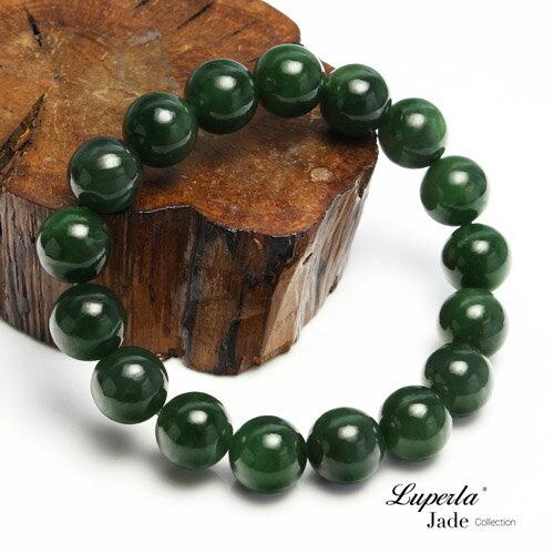 大東山珠寶 luperla:大東山珠寶珠圓玉潤12mm頂級碧玉圓珠手鍊