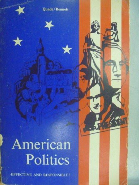 【書寶二手書T8/政治_PPJ】American Politics_1969年