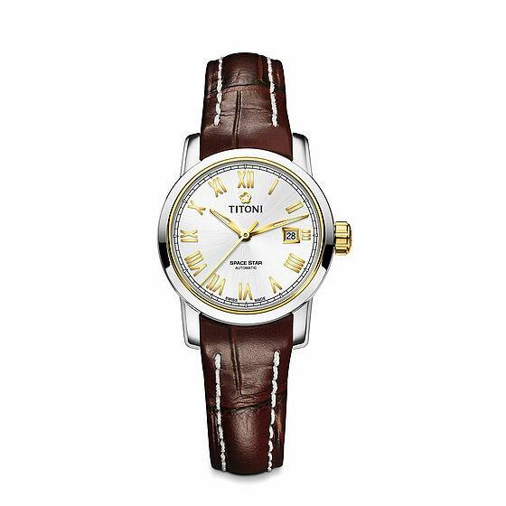 TITONI瑞士梅花錶 天星系列 23538SY-ST-561 經典羅馬腕錶/金 28mm