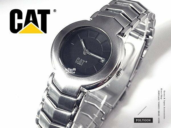 【完全計時】手錶館│cat FF系列 素黑經典 鋼帶 S 28mm 特價下殺 A-FE34111121 特價
