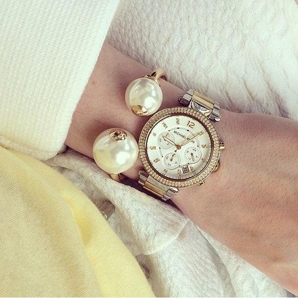美國Outlet正品代購 MichaelKors MK  金銀色陶瓷 水鑽 三環 手錶 腕錶 MK5626 6