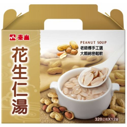 泰山花生仁湯禮盒320g*12罐【愛買】