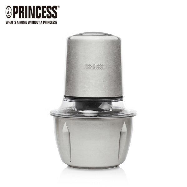 【PRINCESS|荷蘭公主】迷你雙刀食物處理機不鏽鋼調理碗221050【三井3C】
