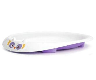 美國MyNatural 餐具系列-Purple Owl薰衣草紫貓頭鷹餐盤