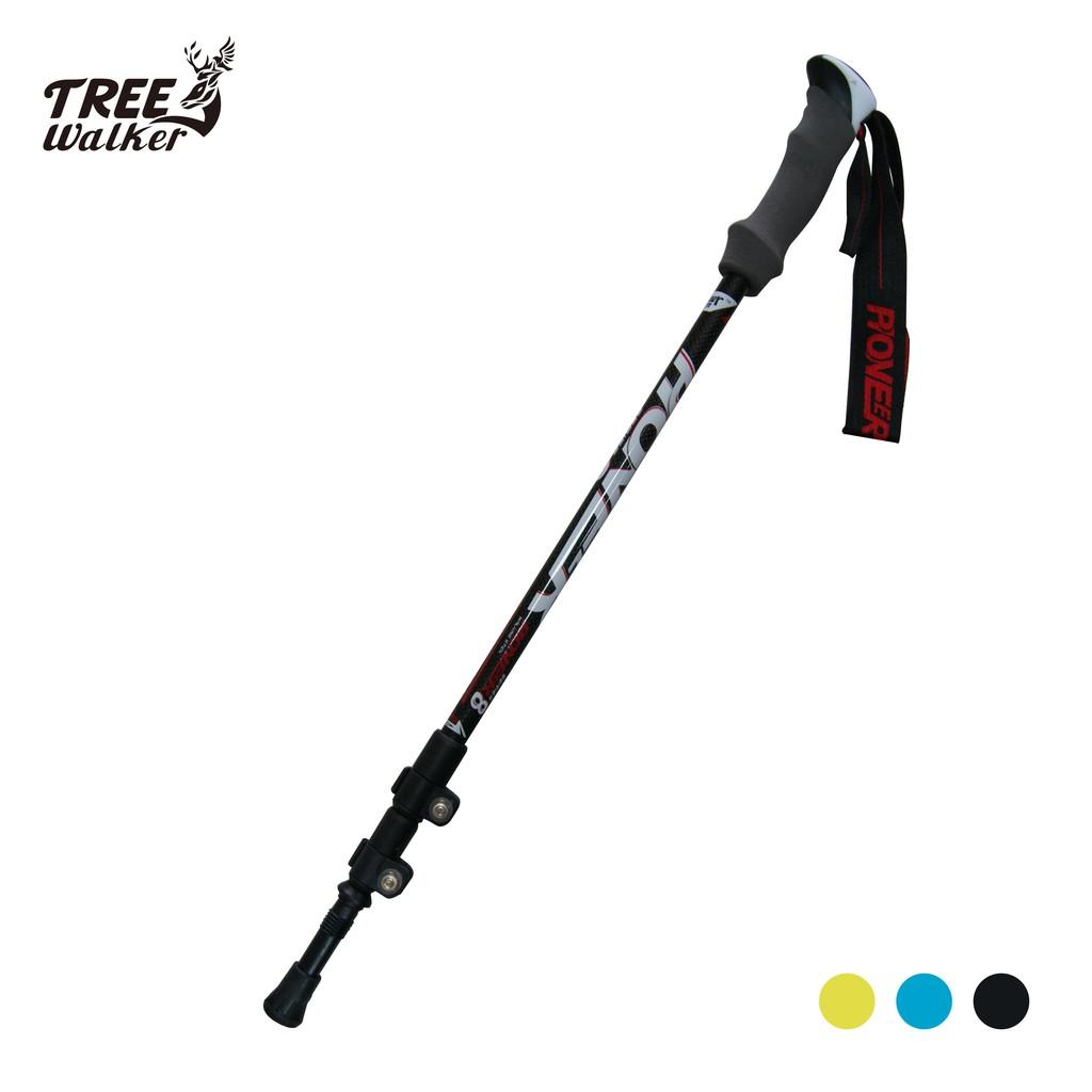 【Treewalker露遊】開拓者碳纖維避震登山杖 pioneer 80%碳纖維登山助力杖 超優質鎢鋼登山健走杖