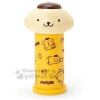 布丁狗周邊商品推薦到〔小禮堂〕布丁狗 造型按壓式棉花棒罐《黃.大臉》自動彈出棉花棒