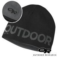 保暖配件推薦【OR 美國】Outdoor Research Booster 雙面保暖 羊毛帽『黑/碳灰』244846 登山.露營.休閒.戶外.保暖帽.帽子