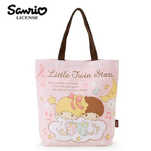 粉紅款【日本進口】雙子星 KIKILALA 帆布 肩背包 托特包 手提袋 肩揹提袋 三麗鷗 Sanrio - 439095