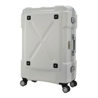 日本 LEGEND WALKER 6302-69-28吋 鋁框密碼鎖輕量行李箱 白色
