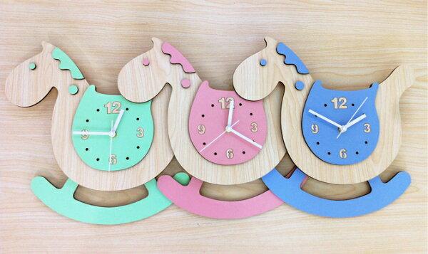 可愛時尚掛鐘創意超靜音家居裝飾品兒童房客廳臥室壁鐘