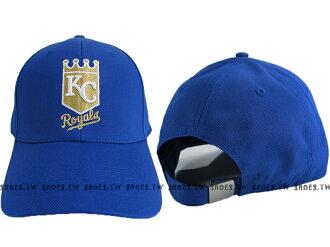 Shoestw【5562008-530】MLB 棒球帽 調整帽 老帽 皇家隊 寶藍 金標 凸繡├【1101-1130】單筆訂單滿700折100★結帳輸入序號『loveyou-beauty』┤