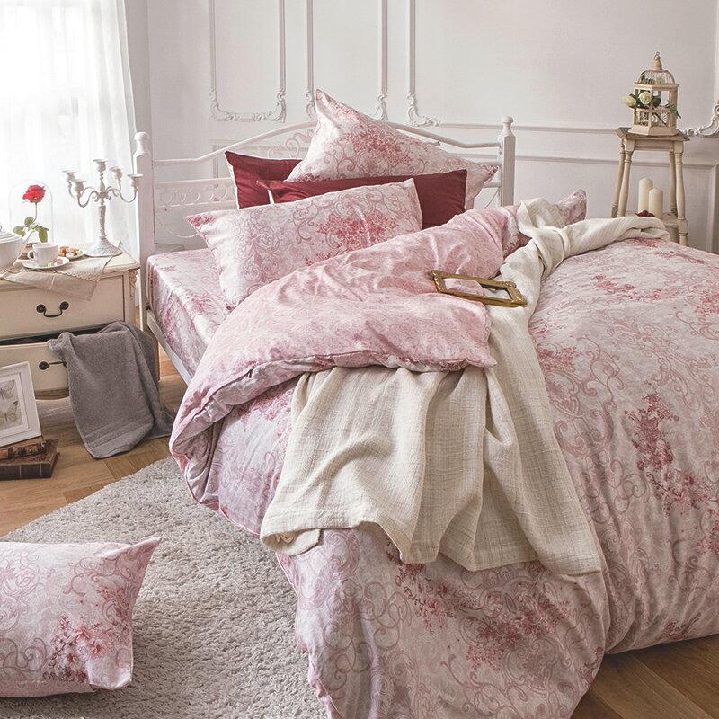 床包被套組  /  雙人加大-100%精梳棉【靜影愛戀】60支精梳棉 含兩件枕套 戀家小舖 台灣製 8