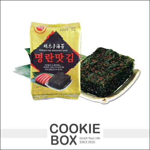 韓國 HAEMATT 京畿道 明太子 味付 海苔 6gX12包 配飯 香脆 進口 零嘴 伴手禮 團購 *餅乾盒子*