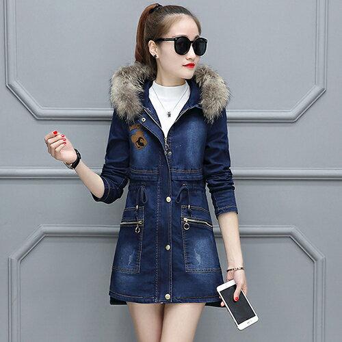 韓版保暖加厚牛仔外套(藍色M~3XL) 【OREAD】 - 限時優惠好康折扣