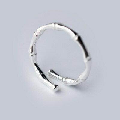 925純銀戒指開口戒~簡約竹節優雅 生日情人節 女飾品73dt82~ ~~米蘭 ~