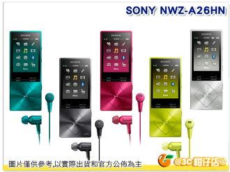 SONY NW-A26HN 數位隨身聽 32G 台灣索尼公司貨 可擴充 含NW705N 降噪耳機