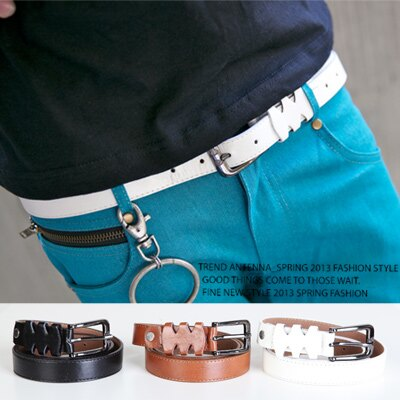 柒零年代MatureMan【N8084J】韓系穿搭必備單品質感造型窄版皮帶/腰帶(EZ210-3018)